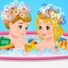 Double bébé douche jeu