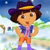 Dora l'Explorateur hiver Dressup jeu
