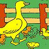 Duckie dans la coloration de la ferme jeu