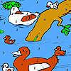 Famille de canard à la coloration de la rivière jeu