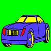 Coloriage voiture fantastique élite jeu