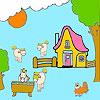 Ferme et chevaux à colorier jeu