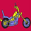 Coloriage de moto rapide plus difficile jeu
