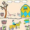 Agriculteur dans la coloration jardin jeu
