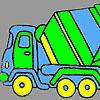 Coloriage camion béton rapide jeu