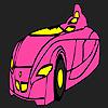 Coloriage voiture rapide futuriste jeu
