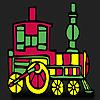 Coloriage de train rapide rouge jeu