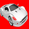 Coloriage de voiture argent plus rapide jeu