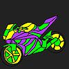 Fascinant et rapide Coloriage moto jeu