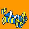 Coloriage voiture de course rayé rapide jeu