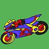 Coloriage de moto fascinant jeu
