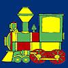 Coloriage locomotive rapide gros jeu
