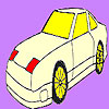Coloriage voiture rapide star jeu