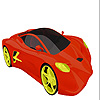 Coloriage voiture rapide intense jeu