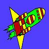 Rapide missile dans la coloration de l'espace jeu
