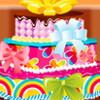 Cinq couches de gâteau jeu