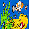 Fishes and sea sponges coloring jeu