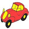Première Coloriage voiture rouge jeu