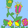 Fleurs dans la coloration de la ferme jeu