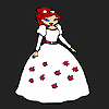 Fille mariée de fleur à colorier jeu