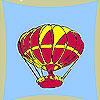 Coloriage de ballon volant jeu
