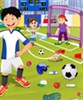 Terrain de football de nettoyage jeu