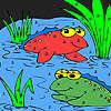 Amis de la grenouille dans la coloration du lac jeu