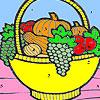 Corbeille de fruits dans la coloration de la cuisine jeu