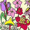 Fleurs fraîches à colorier jeu