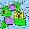 Grenouilles et nénuphars Coloriage jeu