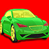 Coloriage voiture pleine vitesse jeu