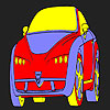 Funny hot car coloring jeu