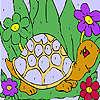 Drôle de tortue à colorier jeu