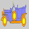 Coloriage de voiture ancienne or jeu