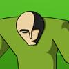 Alien vert jeu