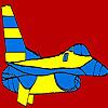 Coloriage de grand avion bleu jeu
