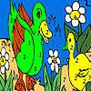 Vert de canards dans la coloration du lac jeu