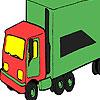 Coloration vert gros camion jeu