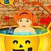 Halloween bébé bain jeu