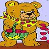 Coeurs et ours à colorier jeu