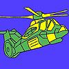 Coloriage d'un hélicoptère militaire lourd jeu