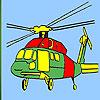 Coloriage hélicoptères lourds jeu