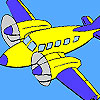 Haut vol coloriage d'avion jeu