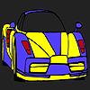 Coloriage de voiture de haute performance jeu