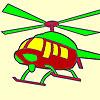 Coloriage hélicoptère chaud jeu