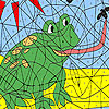 Grenouille affamé à colorier jeu