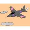 Coloriage avion de chasse jeu