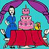 Jenny à la fête d'anniversaire à colorier jeu