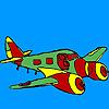 Coloriage avion Jet jeu