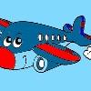 Enfants Coloriage avion jeu